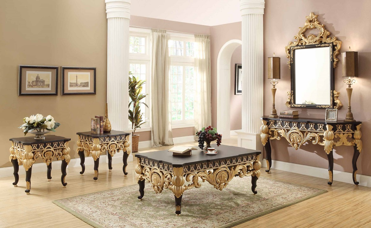 Luxurious Traditional Style Formal Living Room Furniture Set HD 4826