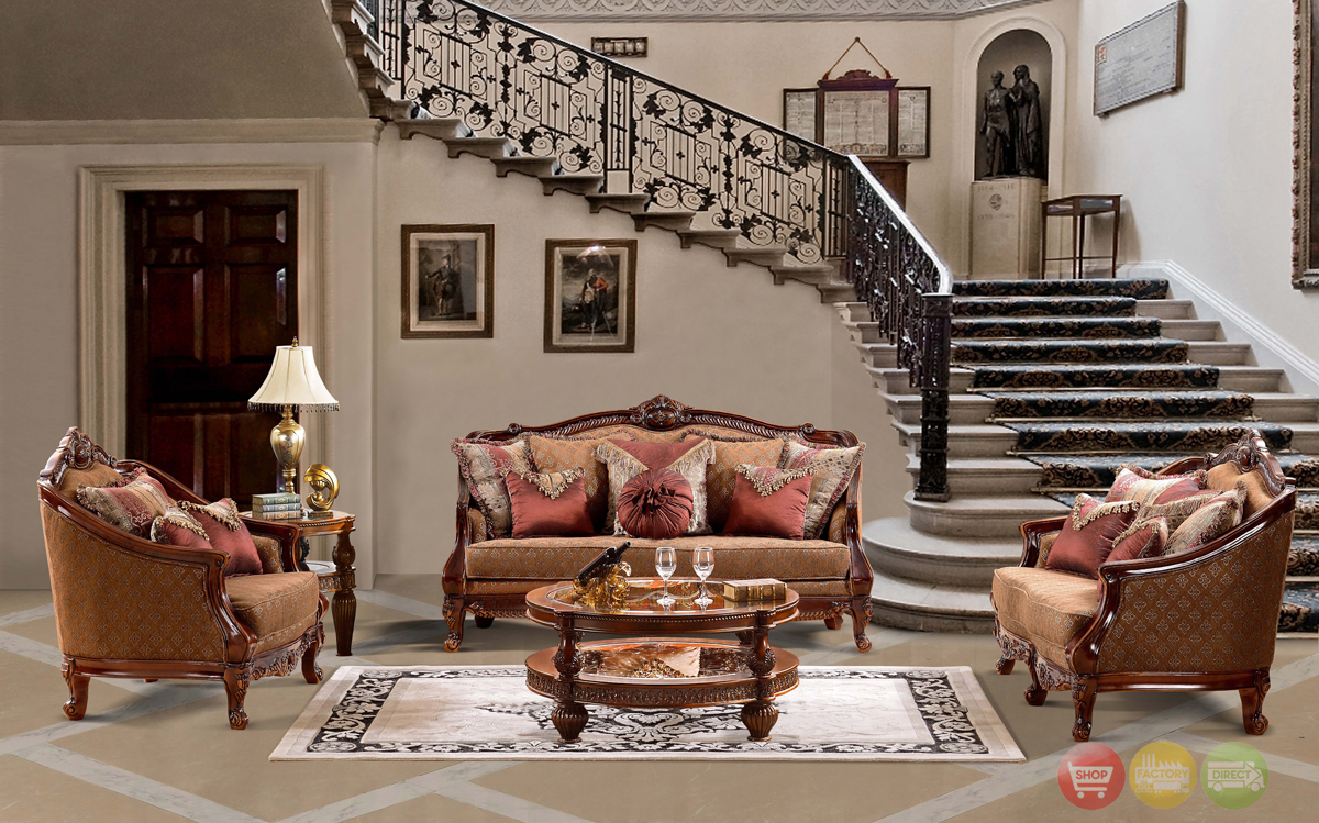 Luxurious Traditional Style Formal Living Room Furniture Set HD 904