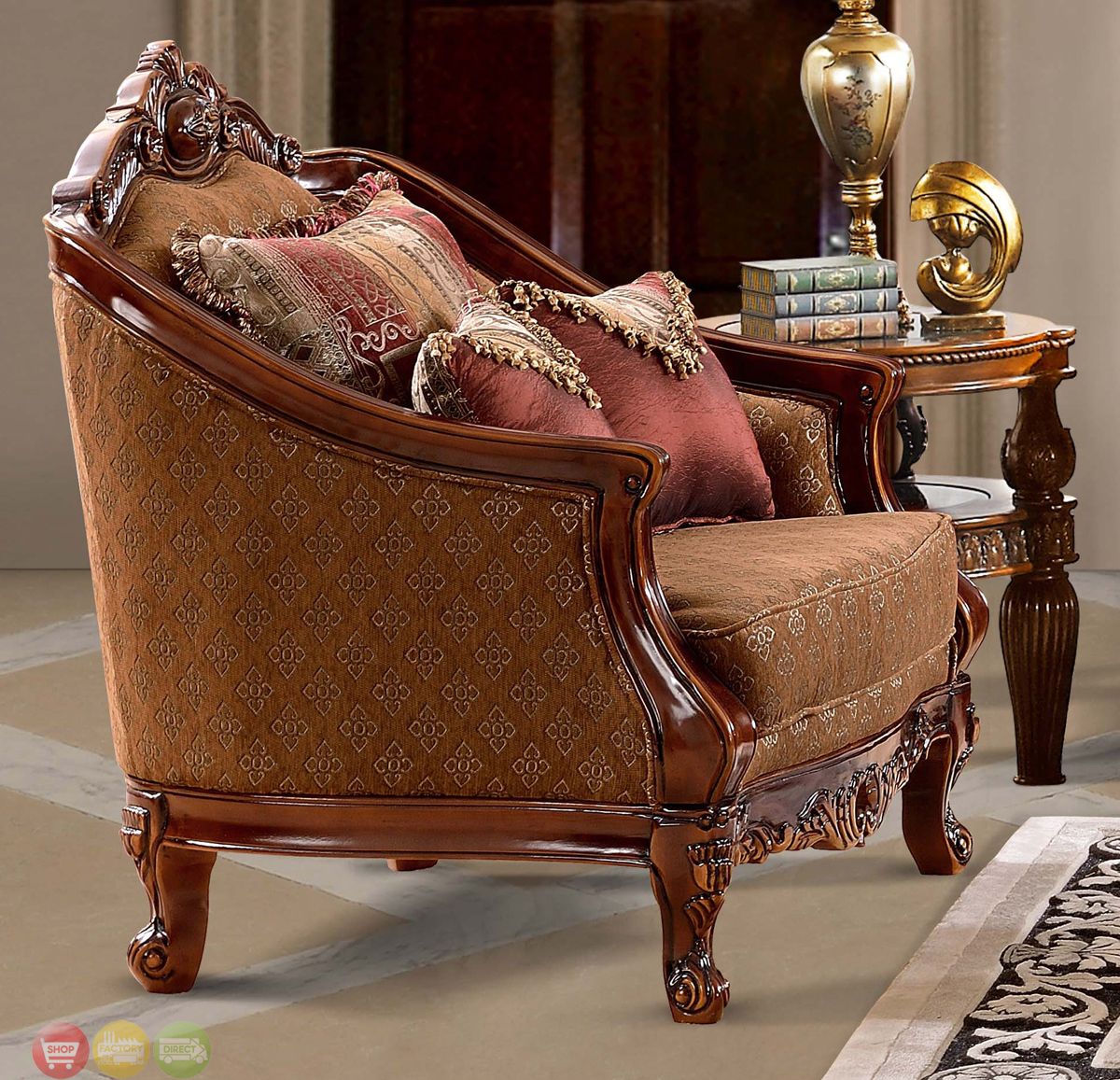 Traditional Style Living Room Furniture: Luxurious Traditional Style Formal Living Room Set HD-904