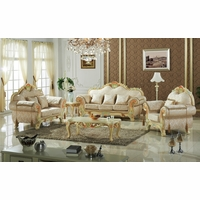 Luxurious Victorian Formal Living Room Furniture Antique White Carved Wood