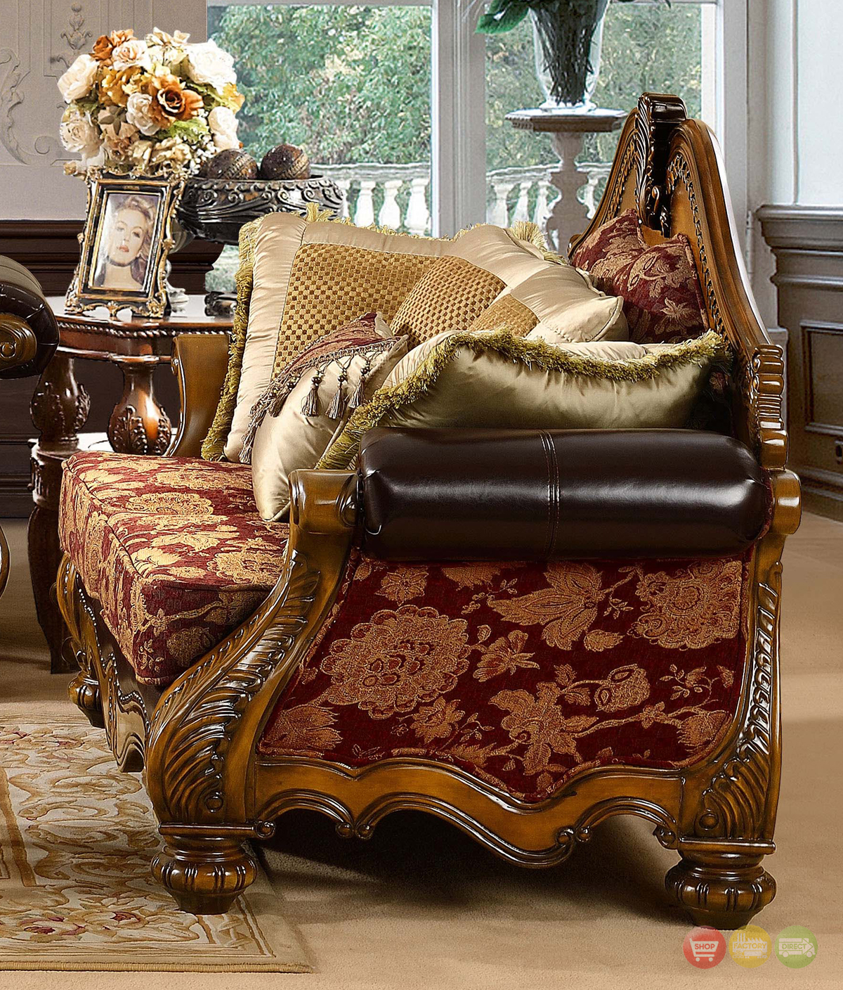 Fine Living Room Furniture: Luxury Formal Living Room Furniture W/ Carved Wood HD-481