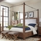 Madeleine Smoky Solid Acacia California King Turnbuckle Canopy Bed