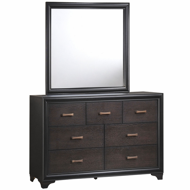Madison Country 7-drawer Dresser And Mirror, Walnut