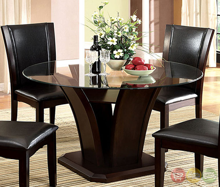 Casual Modern Dining Room: Manhattan II Contemporary Dark Cherry Casual Dining Set