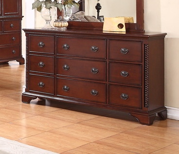 Manor Classic 9-Drawer Dresser In Deep Cherry Finish