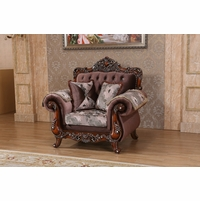 Marbella Victorian Rose Chair With Crystal And Silver Accents