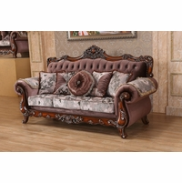 Marbella Victorian Rose Sofa With Crystal And Silver Accents