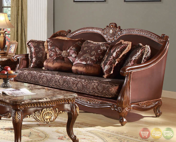 marlyn traditional dark wood formal living room sets with carved