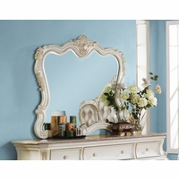 Marquee French Provincial Dresser Mirror Pearl White