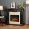 Maxwell Electric Heater LED Fireplace In Antique Black, 4700BTU, 48x40