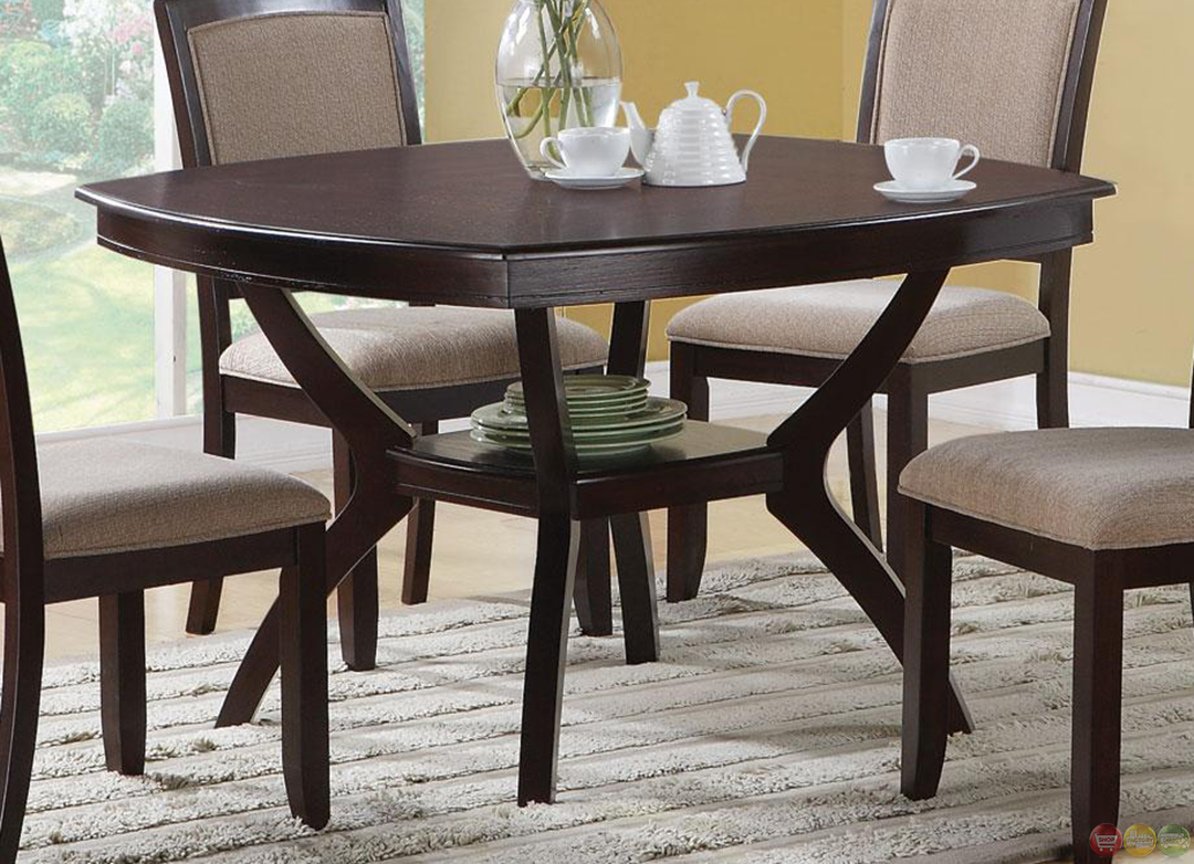 Memphis cappuccino 5 piece casual dining room set for Informal dining room sets