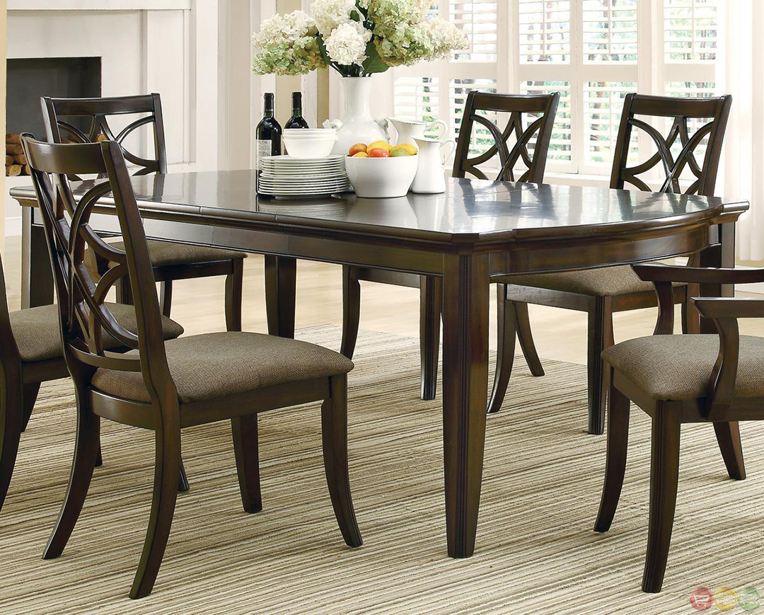 meredith espresso finish contemporary dining room set