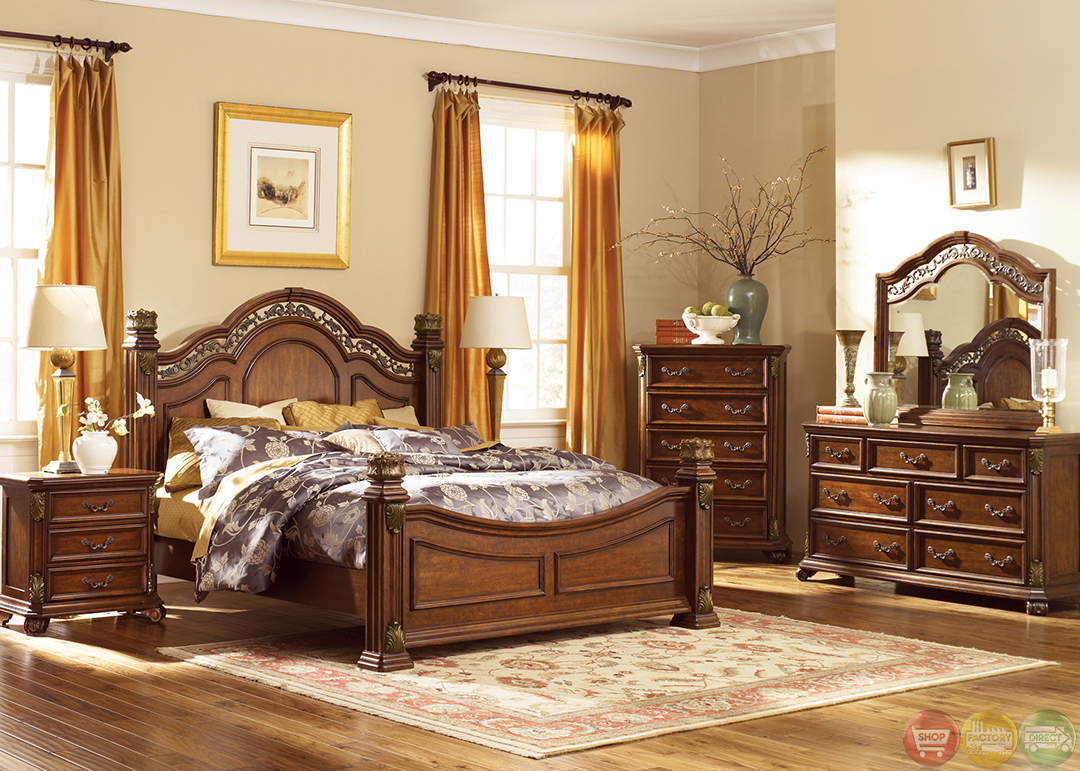 Messina Estates Traditional European Style Poster Bedroom Set