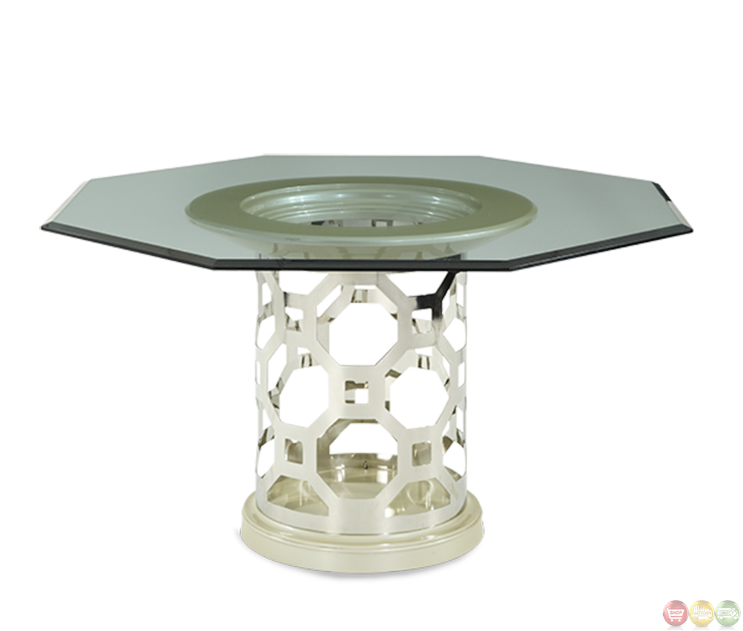 Michael Amini After Eight Pearl Octagon Dining Table by AICO : michael amini after eight pearl round dining table by aico 13 from shopfactorydirect.com size 1080 x 918 jpeg 196kB