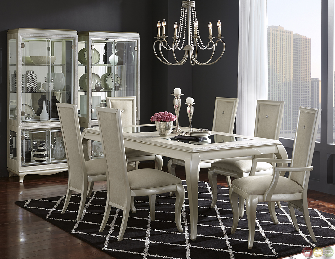 michael amini after eight studio modern dining table set