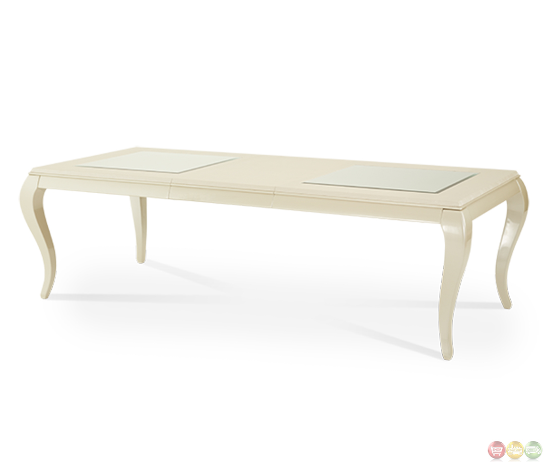 Michael Amini After Eight Studio Modern Dining Table Set By AICO