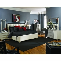 Michael Amini Beverly Blvd Pearl Caviar Bedroom Furniture Set by AICO