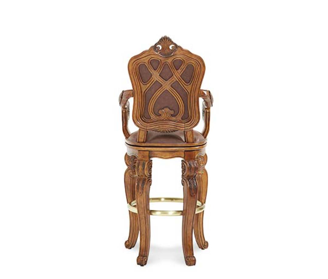 Michael Amini Biscotti Tuscano Traditional Swivel Barstool