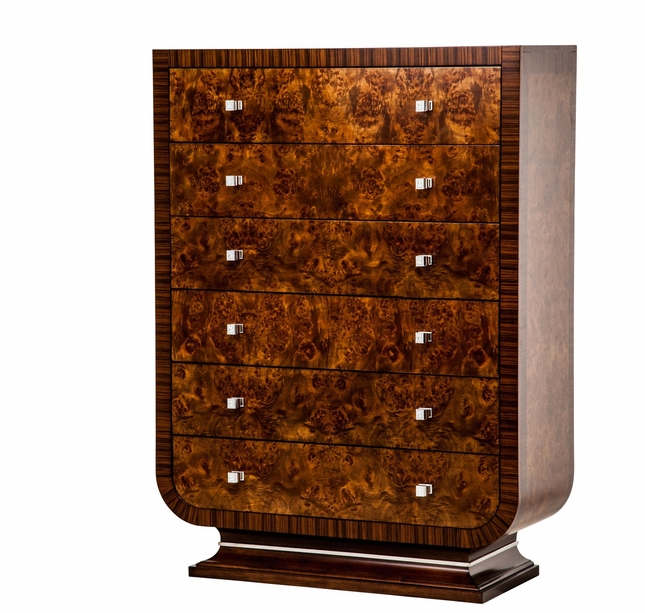 Michael Amini Cloche Traditional Bourbon 6 Drawer Chest  by AICO