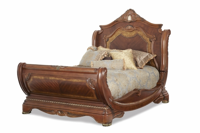 Michael Amini Cortina Traditional California King Sleigh Bed by AICO
