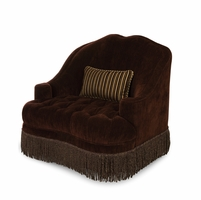Michael Amini Imperial Court Chestnut Tufted Chair & Half by AICO