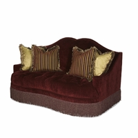 Michael Amini Imperial Court Eggplant Traditional Tufted Love Seat by AICO