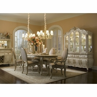 Michael Amini Lavelle Blanc Antique White Finish Dining Room Set AICO