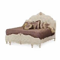 Michael Amini Lavelle Blanc California King Carved Wing Bed by AICO