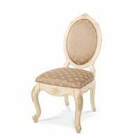 Michael Amini Lavelle Blanc Finish Set Of Two Traditional Side Chairs by AICO