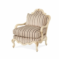 Michael Amini Lavelle Blanc Traditional Bergere Wood Chair by AICO