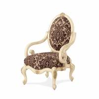 Michael Amini Lavelle Blanc Traditional Oval Back Wood Chair by AICO