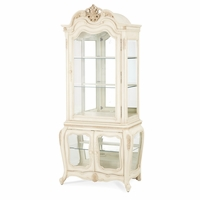 Michael Amini Lavelle Floral And Scrolled Motif Top Curio Cabinet by AICO