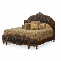 Michael Amini Lavelle Melange Finish Eastern King Wing Mansion Bed by AICO