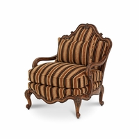 Michael Amini Lavelle Melange Finish Traditional Bergere Wood Chair by AICO