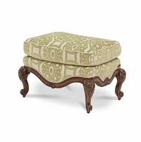 Michael Amini Lavelle Melange Traditional Bergere Chair Ottoman by AICO