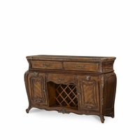Michael Amini Lavelle Traditional Style Melange Birch Solid Sideboard by AICO