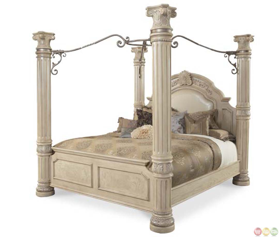 michael amini monte carlo ii california king poster bed with canopy
