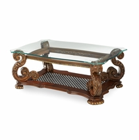 Michael Amini Oppulente Rectangular Sienna Spice Cocktail Table by AICO