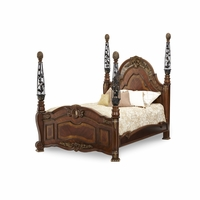 Michael Amini Oppulente Traditional California King Poster Bed by AICO