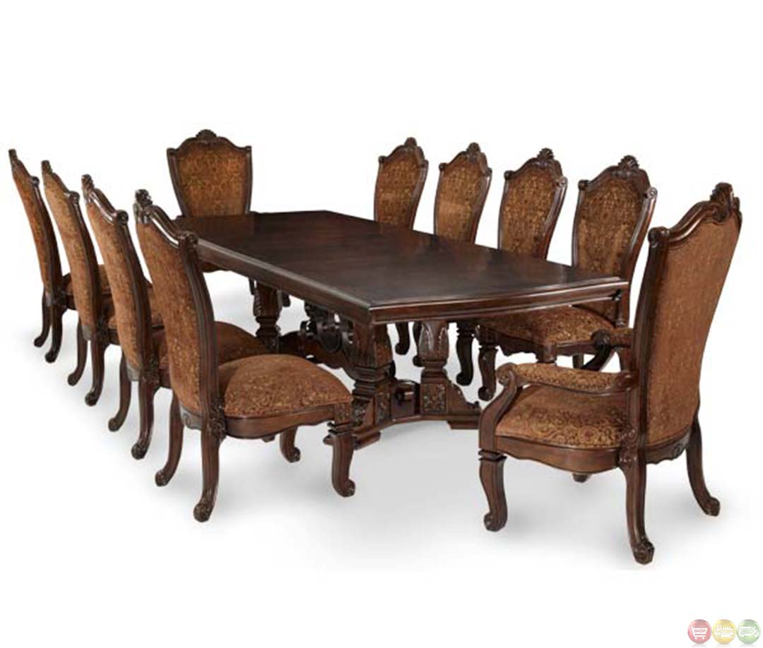 Michael Amini Dining Room Furniture: Michael Amini Rectangular Traditional Windsor Court Dining Table By AICO