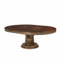 Michael Amini Round Oval Dining Table Villa Valencia Traditional by AICO
