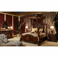 Michael Amini Victoria Palace Bedroom Set with Canopy Bed by AICO
