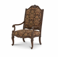 Michael Amini Victoria Palace Fabric Upholstery & Wood Chair by AICO