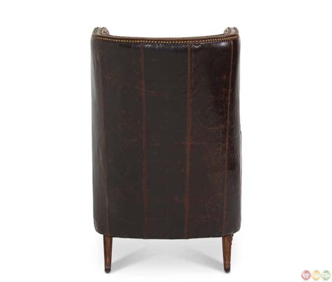 Roxanne Accent Chair Robert Michael: Michael Amini Victoria Palace Leather And Fabric Wing