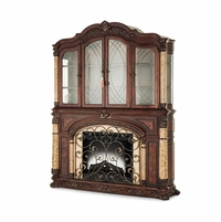 Michael Amini Victoria Palace Light Espresso Traditional Fireplace by AICO