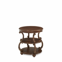 Michael Amini Victoria Palace Round Traditional Style End Table by AICO