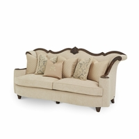 Michael Amini Victoria Palace Upholstered Wood Trim Sofa by AICO
