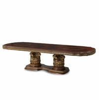 Michael Amini Villa Valencia Rectangular Chestnut Dining Table by AICO