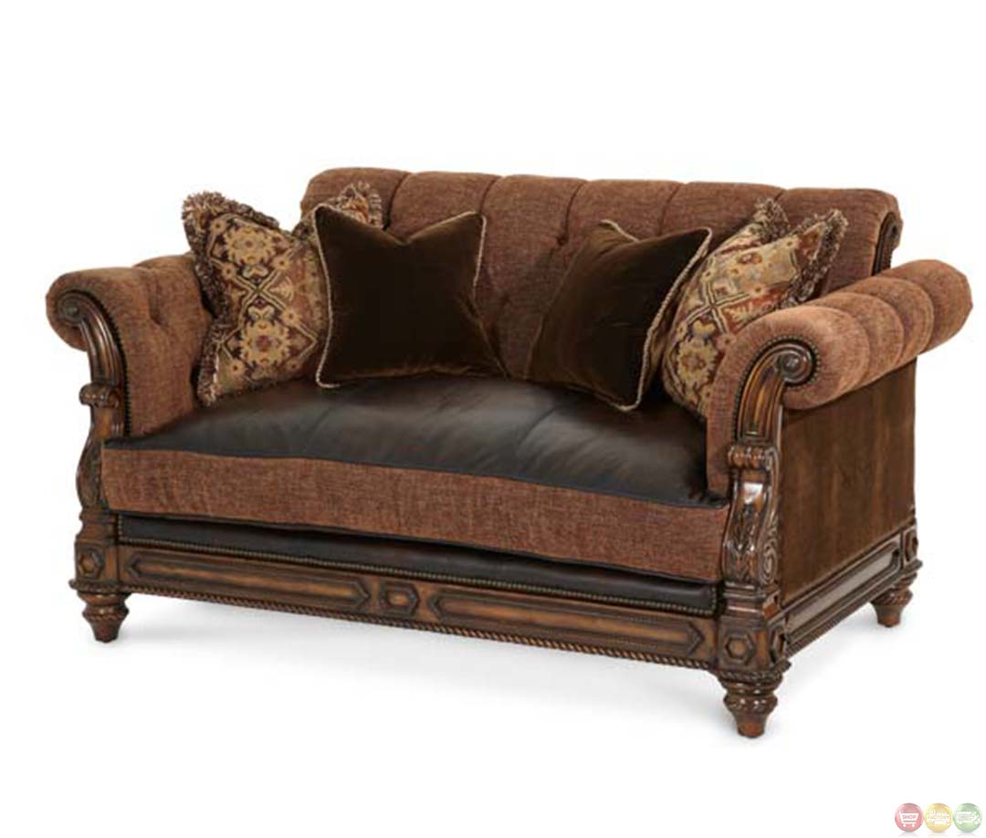 Michael Amini Vizcaya Leather And Fabric Traditional