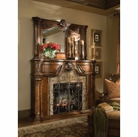 Michael Amini Windsor Court Vintage Fruitwood Traditional Fireplace by AICO